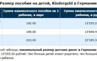 Пособие на ребенка в германии: сколько платят за каждого ребенка?