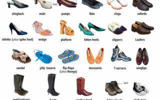 Обувь на немецком языке. виды обуви и полезные фразы.