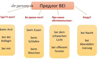 Немецкий предлог bei и много разных его значений.