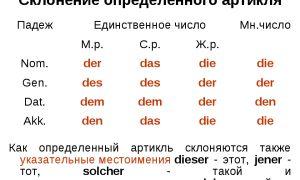 Артикли в немецком языке. определенный артикль в немецком языке.
